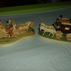 horse drawn carriage figures set of 2